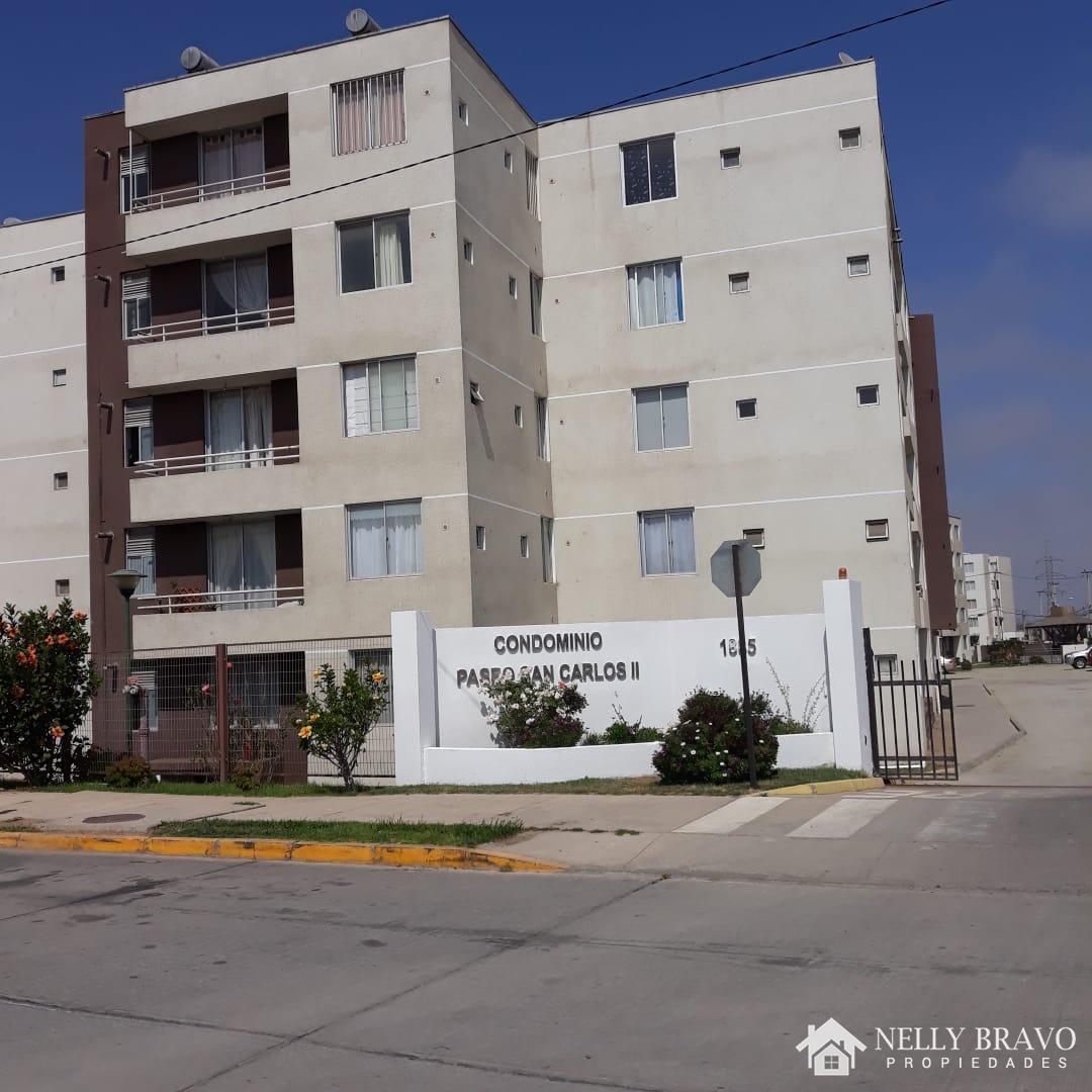 Se vende Departamento Amoblado en Condominio Paseo San Carlos II, Coquimbo